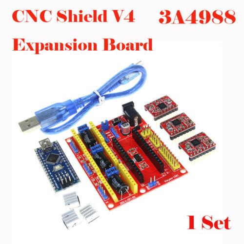 V4 3D Printer CNC Shield A4988 Driver Engraving Expansion BoardSet For Arduino