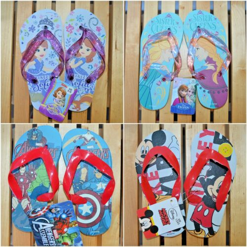 Disney Boys Girls Sandals Flipflops Flip Flops Cinderella Spiderman Avenger