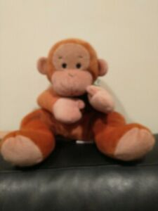 """Used Ty Beanie Baby """"SWINGER"""" the 14"""" Brown Monkey Pillow Pal Plush 1997 Toy"""