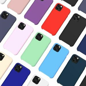 Liquid-Silicone-Shockproof-Case-For-Apple-iPhone-Soft-Matte-Back-Phone-Cover