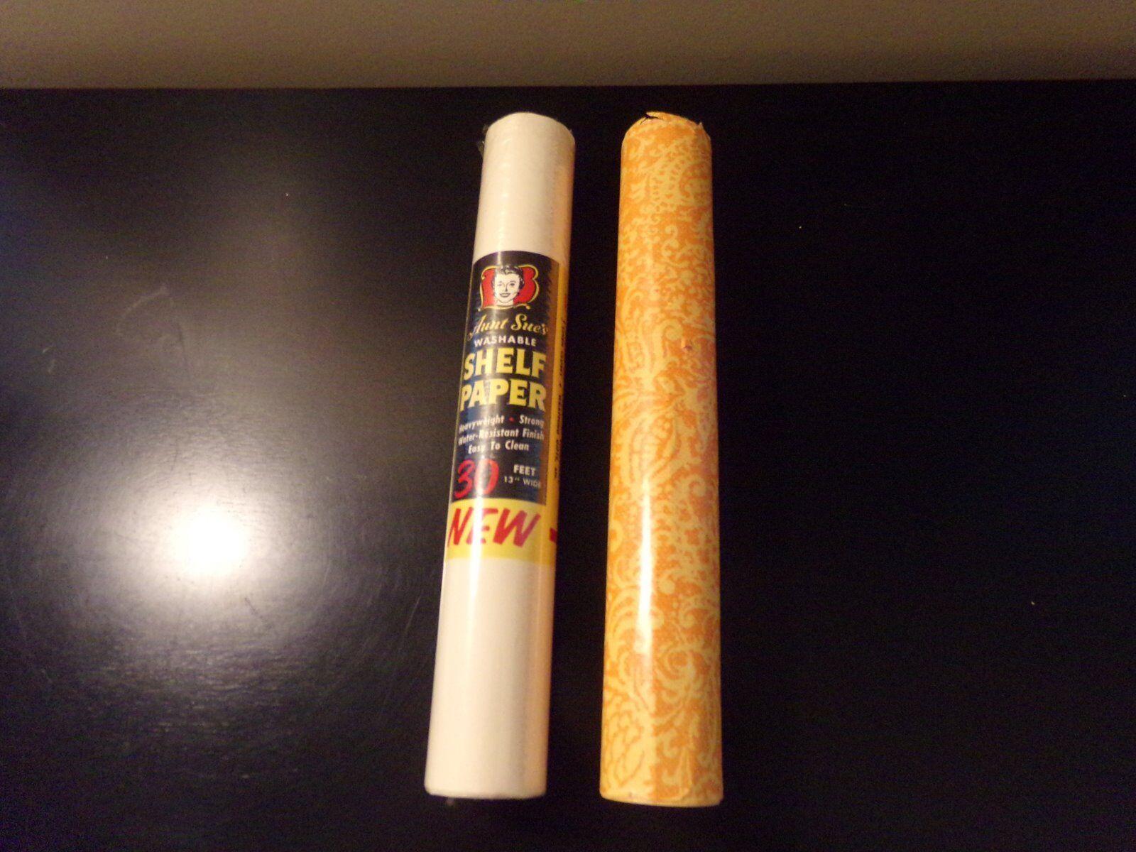 2 vintage rouleaux de papier paquebot années 1950 & années 1970 tante Sue 37 FT (environ 11.28 m) total Scellé