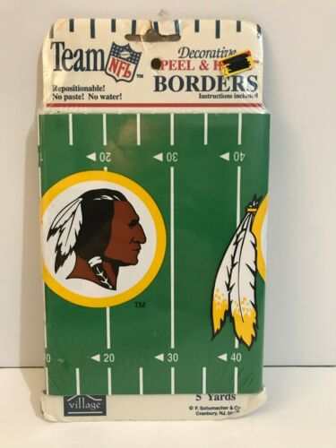"NFL Washington Redskins Wall Border 7/""X5 Yds"