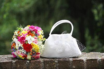 Satin Brauttasche Braut Tasche Täschchen Hochzeit Kommunion Elfenbeinfarben HeißEr Verkauf 50-70% Rabatt