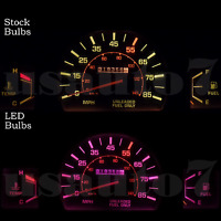 Dash Instrument Cluster Gauge Pink Led Lights Kit Fits 79-88 Toyota Pickup Truck
