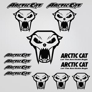 Arctic Cat adesivi capo gatto stickers 12x snowmobile snowboard motoslitta