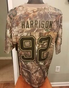 huge discount 4c2d3 4e429 Details about James Harrison Pittsburgh Steelers Jersey Adult Medium Camo  Real Tree Reebok