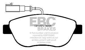 DP41383R Almohadillas de Freno Delanteras Yellowstuff EBC para Abarth Fiat