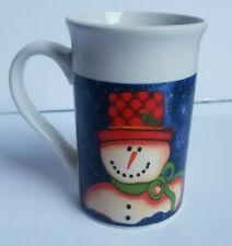 "Royal Norfolk Stoneware ""Snowman"" Jumbo 20 oz Mug"