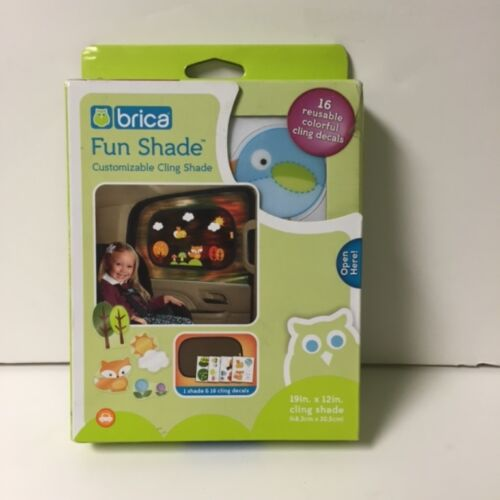 Brica Fun Shade Customizable Cling Sun Shade and 16 Reusable Colorful Decals