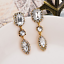 Elegant-Women-White-Rhinestone-Crystal-Drop-Ear-Stud-Dangle-Earrings-Jewelry thumbnail 3