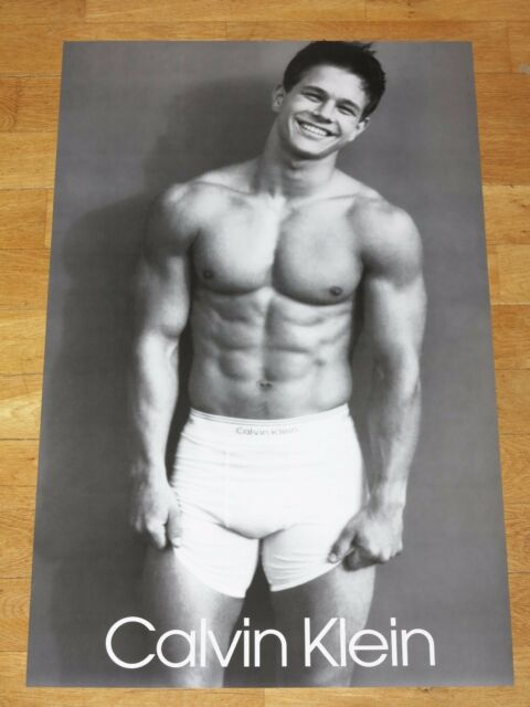 sale usa online on feet at new high Marky Mark Wahlberg Calvin Klein Promo Poster Gay Nice Vintage Commercial  90s