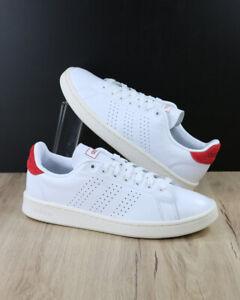 Adidas-Scarpe-Sportive-Sneakers-Uomo-Bianco-Rosso-Advantage-Lea-2020-Vera-Pell