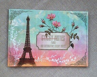 Papaya Art Paris Eiffel Tower Sticky Note Pack Set Fashion Post It Floral Desk