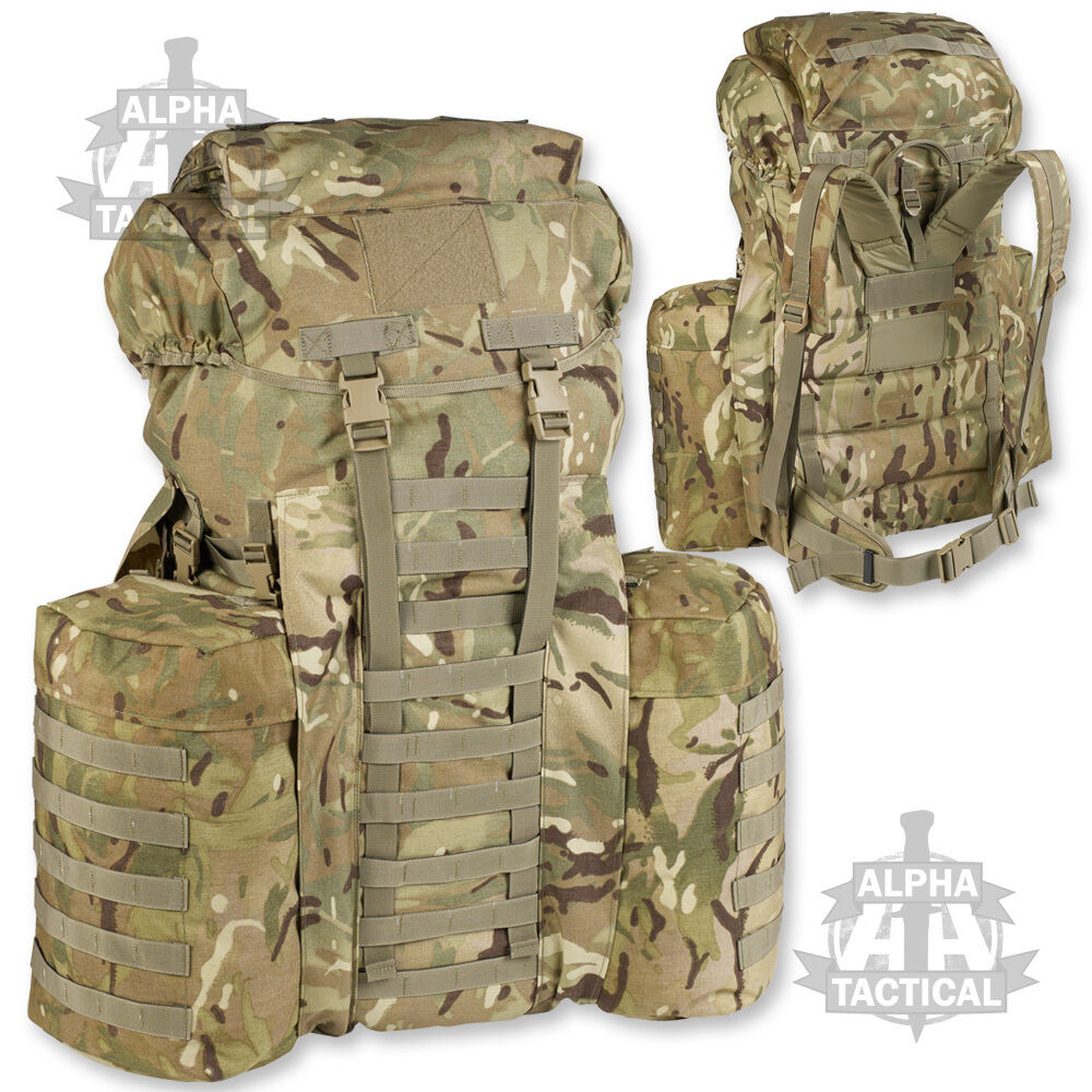 Plce Mtp Multicam 120 Ltr pleine Taille Bergen Sac à dos avec poches latérales