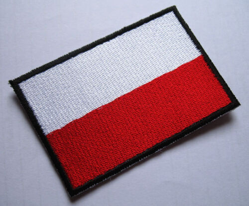 FATHERLAND HONOR GOD POLAND NATIONAL FLAG Sew on Patch Free Postage