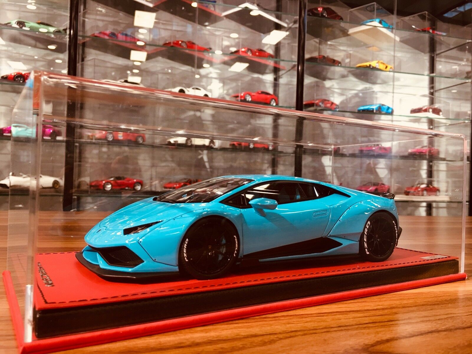 MR LB performance Liberty Walk Huracan 610 Lamborghini 1 18 Baby blu lim 25pcs