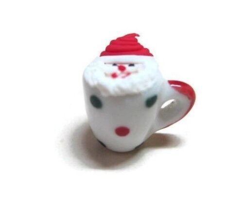 1 x Dollhouse Miniatures Mug Santa Christmas Cake Bakery Food Holiday Party