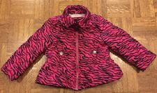 Girls Pink Zebra Print Quilted Puffer Jacket Size 2T