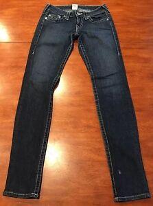 Religion True a in vita scuro medio denim Rise Jeans Stella 27 Taglia bassa Low BIqggWF6