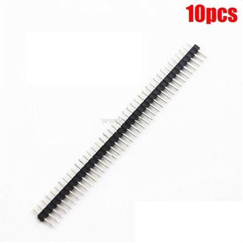 10Pcs 1X40 Pin 2.0MM Pitch Single Row Straight Pin Header Strip sw