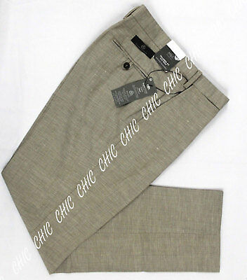 Mens Trousers Washable Wool Blend Flat Front With Active Waistband