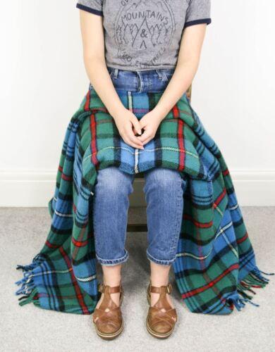 Tweedmill tartan 100/% wool knee travel car rug British made small blanket throw