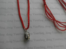 A Red Cord Chinese Lucky Feng Shui small Lady Buddha Charm Pendant Necklace