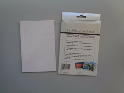 "Set of 5 Photo Paper Matt 4/"" x 6/"" Free P/&P - Total 100 Sheets"