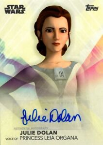 Woman-Of-Star-Wars-Topps-2020-Autograph-Card-Julie-Dolan-Voice-Of-Leia-Organa