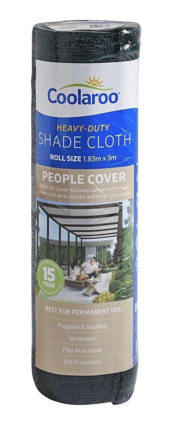 Tela de sombra cubierta personas Coolaroo HD 1.8x3m 90+% UV bloque lluvia FOREST  Aust marca