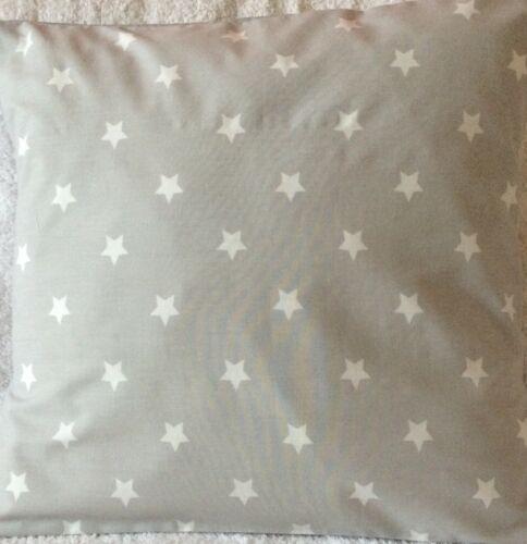 """Fait main gris et blanc étoiles Housse de coussin Allumettes Laura Ashley Literie 16x16/"""""""