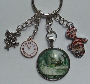 alice-in-wonderland-charm-figure-keyring-mad-hatter-white-rabbit-cheshire-cat