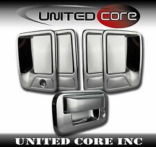 08-16 Ford Superduty Chrome 4 Door Handle Cover + Chrome Tailgate Handle Cover