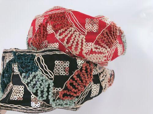 Women BOHO Retro Embroidery Wide Bandana Look Hair Band Hairband Headband Hoop