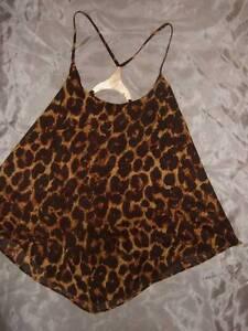 NWT ~ NICKI MINAJ leopard print swing top w/ low back ...Nicki Minaj In Leopard Print