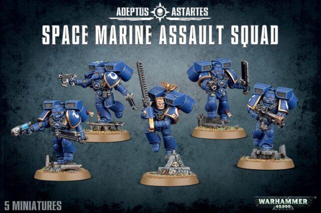 Games Workshop Warhammer 40k Space Marines Assault Squad for sale online