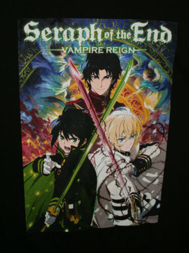 Seraph of the End Vampire Reign Japanese Anime Manga Black T-Shirt New XL