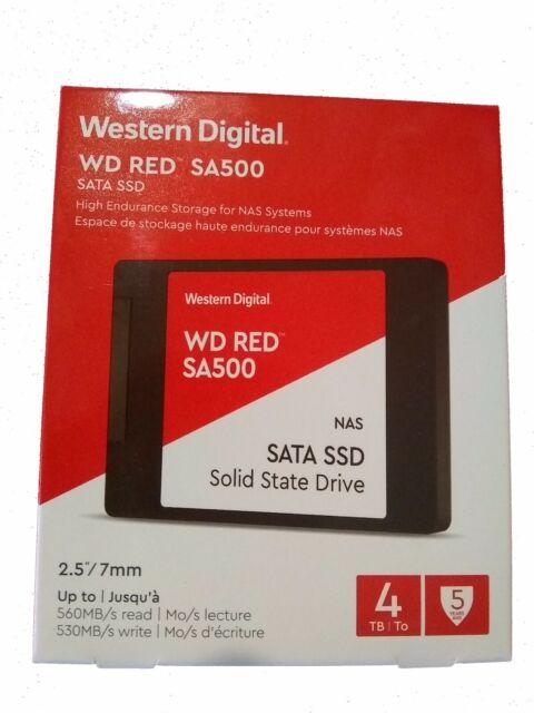 Western Digital WDS400T1R0A RED SA500 4TB 3D NAND SATA III 6Gb/s 2.5