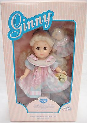 """Ginny Doll Collector 71455 8"""" Poseable w Stand Includes 3 Miniature Dolls NIB"""