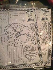 Oriental Trading Wedding Paper Placemats Lot Of 2 Dozen Ebay