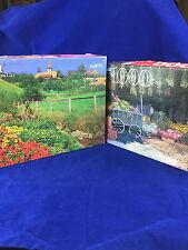 2 vintage Guild interlocking jigsaw puzzle 1000 pc flower market & Switzerland