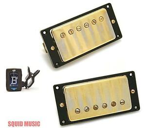 Seymour-Duncan-Antiquity-Humbucker-Set-Aged-Gold-Cover-FREE-GUITAR-TUNER