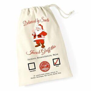 Personalizzato-Di-Natale-Babbo-Natale-Sacco-Babbo-Natale-Regalo-di-Natale-Calza