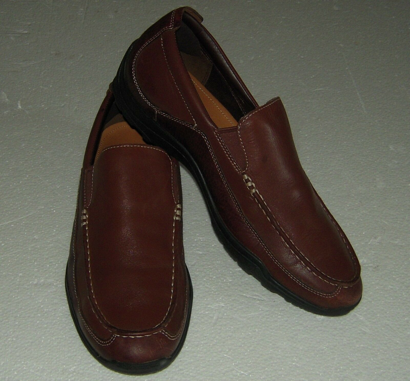 COLE HAAN BROWN Leather Driving Slip On Loafers mens size 9M(US)