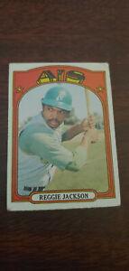 1972 Topps Baseball Card #435 Reggie Jackson Oakland Athletics A's VG