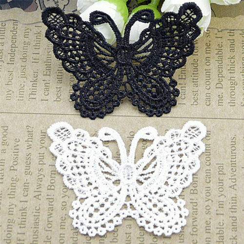 Butterfly Lace Patches Embroidery Wedding Applique Trim Clothing Accessories HG