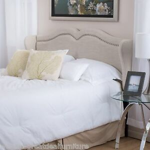 Contemporary Adjustable Beige Fabric Headboard For Fullqueen Ebay