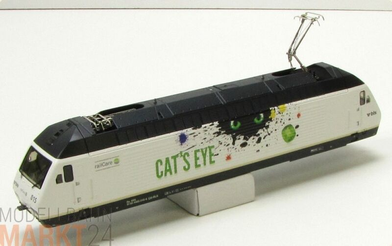 Ersatz-Gehäuse BLS 465 015-6 Cats Eye z.B. für ROCO Elektrolok BR 465 H0 - NEU  | Ausgewählte Materialien