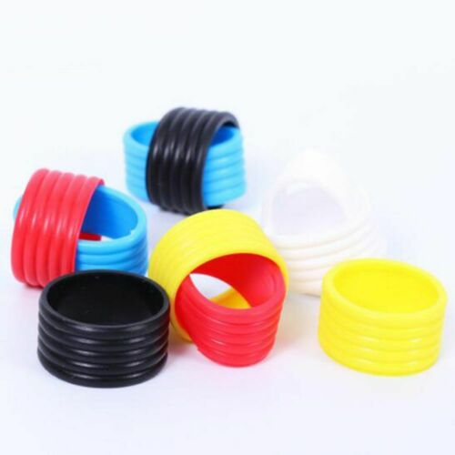 3pcs Stretchy Tennis Racket Handle Rubber Ring Multicolor Rubber Grip Ring New