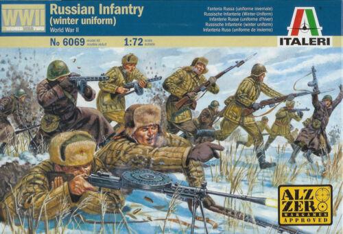 20mm WWII Russian Infantry Winter Gear Italeri 1//72